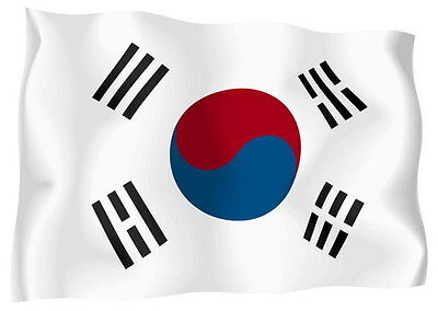 Sticker decal vinyl decals national flag car ensign bumper south korea korean