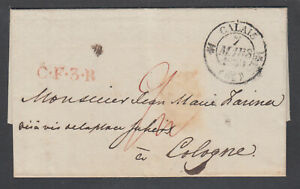 Great-Britain-1830-Stampless-to-Germany-LONDON-COLOGNE-via-Forwarding-Agent