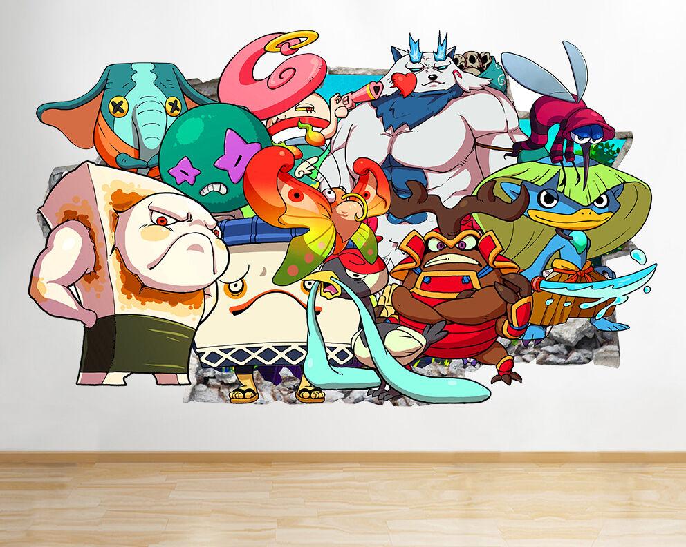 I053 Yo Kai Guarda Personaggi Bambini  adesivo da parete camera bambini
