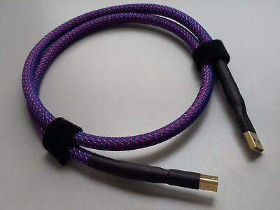 HIFI USB sound card DAC data line port A-B single crystal copper silver wire