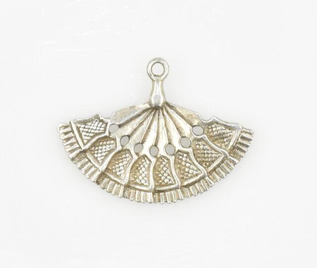 Vintage Sterling Silver Hand Fan Charm