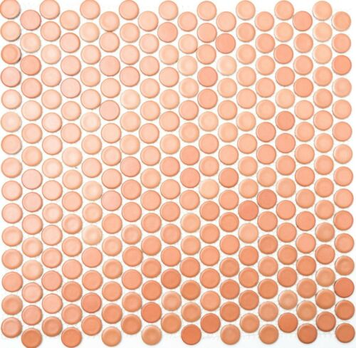 TERRACOTTA Penny Mosaic tile Ceramic Porcelain WALL /& FLOOR 10-1212/_f10 sheet