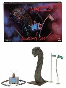Nightmare On Elm Street (partie 3) Ensemble d'accessoires de luxe (échelle de 7 Nightmare On Elm Street (part 3) Deluxe Accessory Set (7
