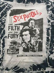 Men-039-s-X-Large-Sex-Pistols-Mosquitohead-distressed-rock-punk-Steadman-90s-T-shirt