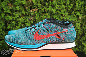 watch 44bff c6c43 Image is loading NIKE-FLYKNIT-RACER-SZ-13-NEO-TURQUOISE-BRIGHT-