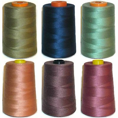 LILAC SEWING THREAD X4 CONES OVERLOCKING 5000 YARDS 120s SPUN POLYESTER