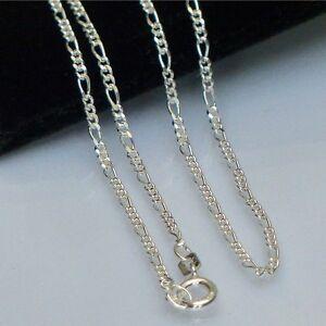 Silber-Halsketten-Figaroketten-reines-Silber-925-1-8-mm-Laenge-38cm-45cm-50-cm