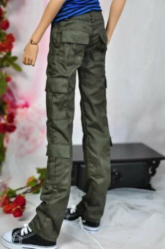 Army Green Pants Overalls Outfits For 1/4 17in BJD MSD AOD AS AOD dd dz DOLL