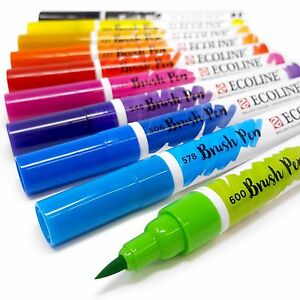 Royal-Talens-Ecoline-Liquid-Watercolour-Drawing-Painting-Brush-Pens-Set-of-10