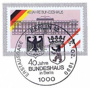 RéAliste Berlin 1990: Bundeshaus 40 Ans! Nº 867 Avec Ersttags-cachet Spécial! 1a! 1512-rstempel! 1a! 1512fr-fr Afficher Le Titre D'origine