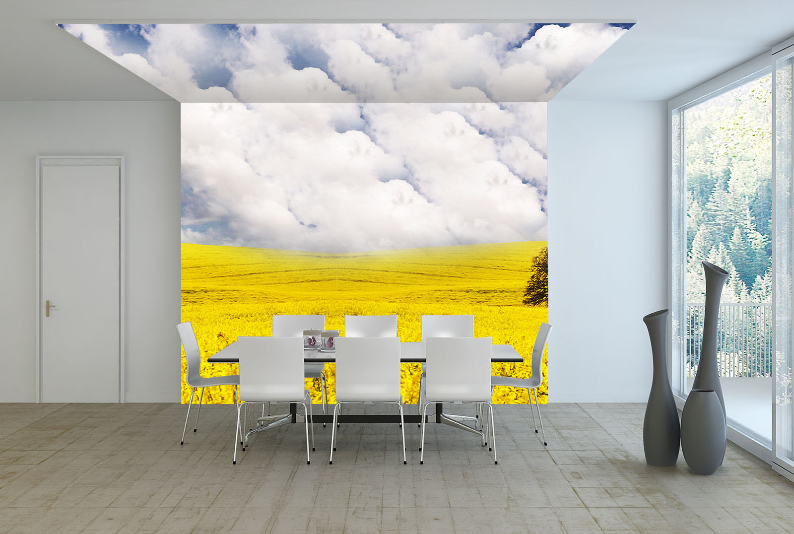 3D Weiß Clouds Field 2214 Paper Wall Print Wall Decal Wall Deco Indoor Murals