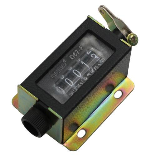Zähler 0 ~ 99999 D67-F Mechanisch Neu 5-stellig Manuell Hand Click FU nn