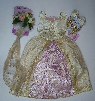 Nwt Disney Tangled Ever After S 5 5t 6 Rapunzel Wedding Costume Veil Ring Shoes Ebay