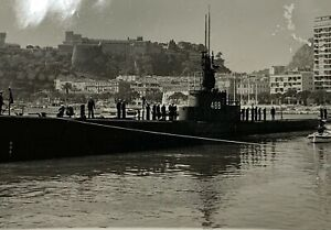 Old-Real-Photo-Photograph-WW2-Era-USS-Sarda-SS-488-Trench-Class-Submarine-9-5x7-034