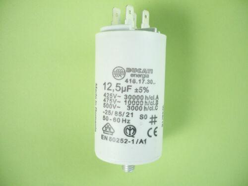 Kondensator Motorkondensator Anlaufkondensator 12,5µF 12,5uF 12,5 µF uF 425V