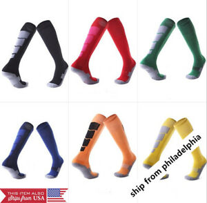Men-039-s-Socks-Soccer-Baseball-Football-Basketball-Sport-Over-Knee-High-Sock-A-Pair