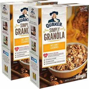Quaker-Simply-Granola-Oats-Honey-Almonds-Breakfast-Cereal-28-oz-Boxes-2-Boxes