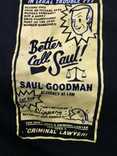 Better Call Saul Graphic t shirt Size Large Black