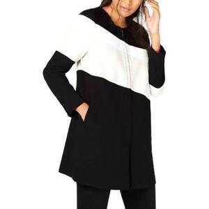 Alfani-Jacket-Colorblock-Zip-Up-Coat-Women-Sz-L-NEW-NWT-253