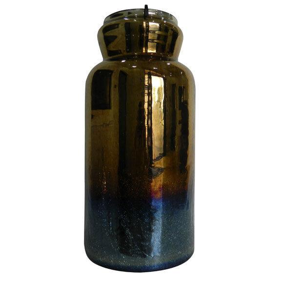 Rica Candle Holder, Antique Tricolor D9 x19  - DS76509TRI