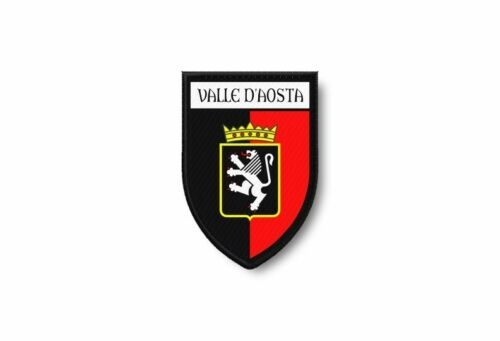PATCH PATCHES EMBLEM IRON ON GLUE PRINT FLAG world crest italy aosta valley