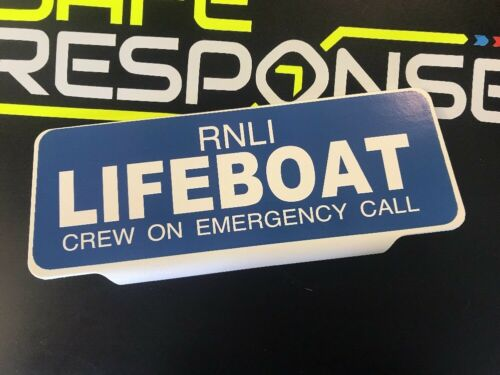 RNLI LIFEBOAT crew on Emergency Call with WHITE Text univisor Sign Sun visor