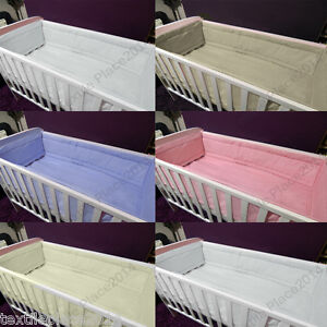 All-round-Large-Long-Matelasse-pare-chocs-pour-s-039-adapter-lit-lit-bebe-plus-soft-couette-assortie