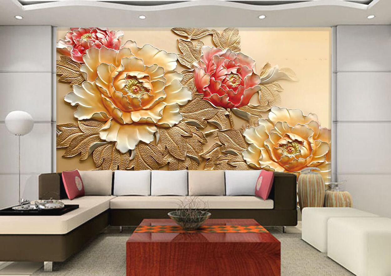 3D Bright Flowers Plant Art 021 Wall Paper Wall Print Decal Wall AJ WALLPAPER CA