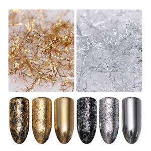 BORN-PRETTY-Nagel-Streifen-3D-Nail-Art-Dekor-Metall-Draht-Linie-Spiegel-Flakies