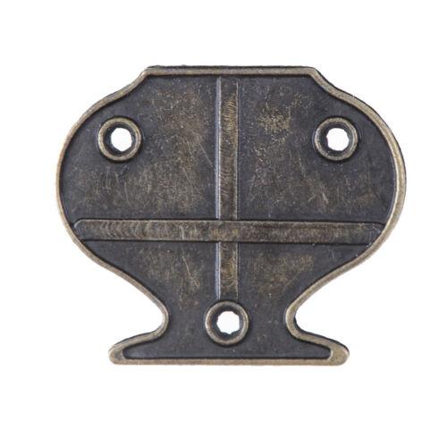 4 STÜCKE Antike Bronze Haspe Latch Schmuck Holzkiste Schloss Kabinett Fall Lo YF