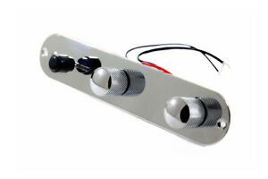 Analytique Placa De Control Telecaster Cromada- Loaded Chrome Telecaster Control Plate Divers Styles