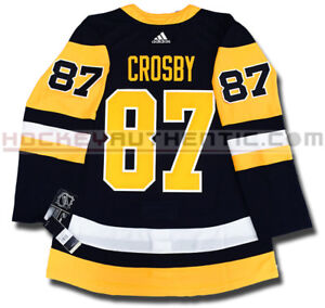 SIDNEY CROSBY PITTSBURGH PENGUINS HOME AUTHENTIC PRO ADIDAS NHL JERSEY