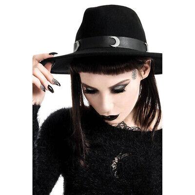 Gastfreundlich Killstar Goth Gothic Okkult Hut - Eternal Eclipse Fedora Moon Mond Hohe QualitäT Und Preiswert