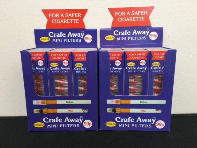 Crafe Away Regular Filters (for Standard shop bought cigarettes) x 24 packs!