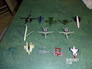 DIECAST-LOT-OF-12-WAR-PLANES-GREENBRIER-JETS-SPACESHIP-BOMBERS-CHOPPERS