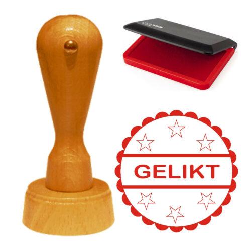 Cooler Stempel « GELIKT » Lehrerstempel Bürostempel Social Media Like Liken