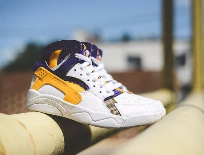 Nike Flight Huarache Court (gradeschool) Universidad Oro Blanco Lakers Court Huarache púrpura 7052820181 e7ae69