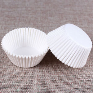 100X-White-Cupcake-Paper-Cases-Cupcake-Paper-Cups-For-Bakeware-Cake-T-FE