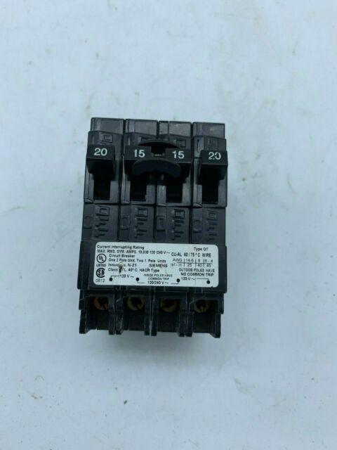 Siemens 20  15a Quad Breaker