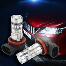 2X H8 H11 100W CREE LED Fog DRL Driving Car Head Light Lamp Bulbs White Bright