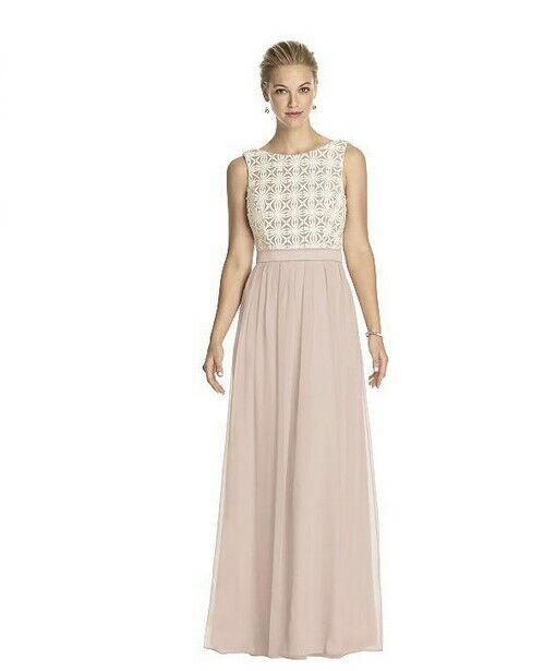 Lela Rose Bridesmaid Lace Bodice Dress Cameo Size 12 1450