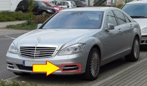NUOVO Originale Mercedes Benz MB S Class W221 Paraurti Anteriore Griglia Luce DRL Sinistro N//S
