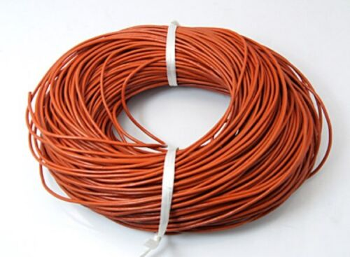 6mm for Jewellery Craft many colours 5 2 Round Leather Cord 100/% Real 1 3 4