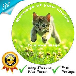 La-vostra-foto-personalizzata-messaggio-commestibili-ROUND-CAKE-TOPPER-per-8-pollici-TORTE