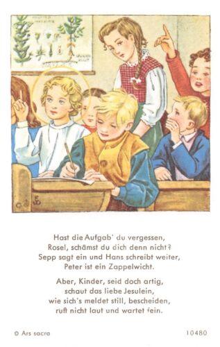 """werzinger/"""" HOLY CARD ARS sacra /""""h572/"""" Le zèle photos icône gebetbild /""""E"""