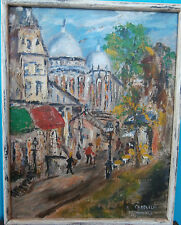 BEAUTIFUL ORIGINAL VINTAGE IMPRESSIONIST PARIS STREET SCENE SIGNED E.CAPELLO