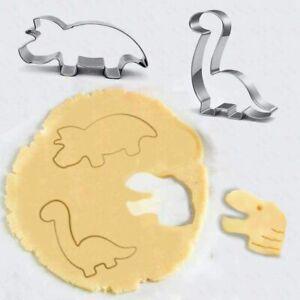 NEW Stainless Steel Cute Cartoon Dinosaur Mold Kitchen Baking Cookie Cutter Tool