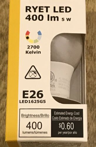 IKEA LIght Bulb LED E26 400 Lumen Globe Opal White RYET