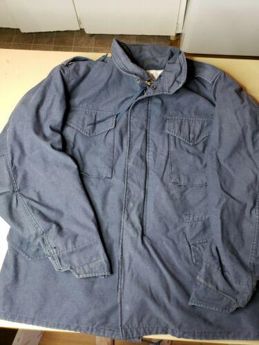 Alpha Industries Vintage Navy Field Jacket Hood sz