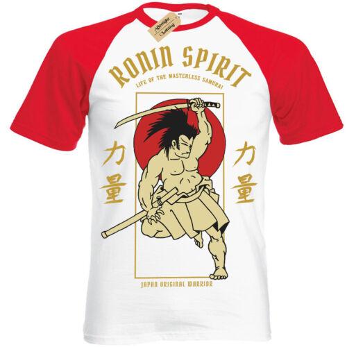 Ancient Hero T-Shirt samurai Ronin Spirit japanese Short Sleeve Baseball